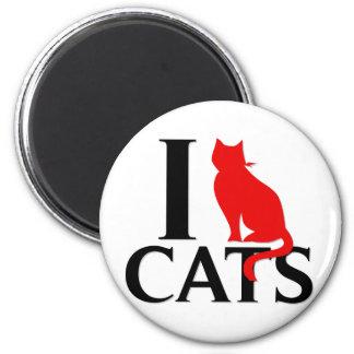 Eu amo gatos imãs de geladeira