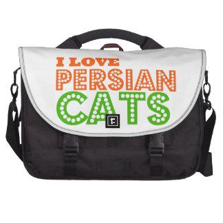 Eu amo gatos persas bolsa para laptop