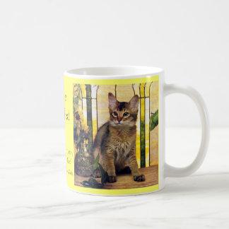 Eu amo gatos somalianos caneca de café