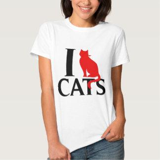 Eu amo gatos tshirts