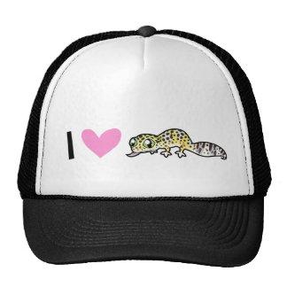 Eu amo gecos do leopardo boné