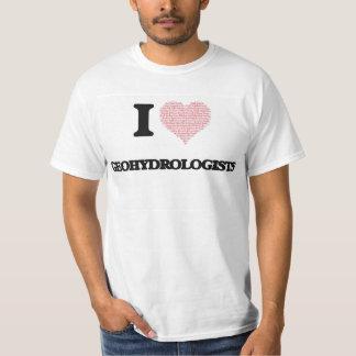 Eu amo Geohydrologists (o coração feito das Tshirts