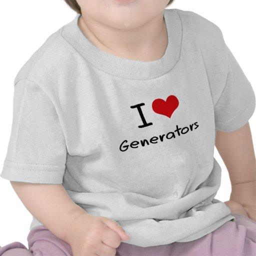 Eu amo geradores tshirts