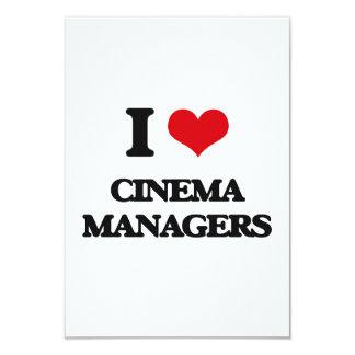 Eu amo gerentes do cinema convite