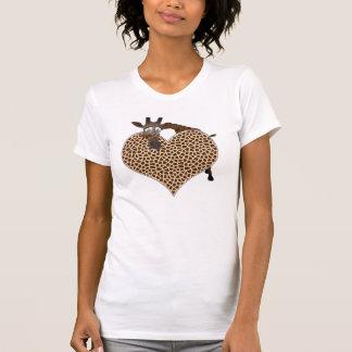 Eu amo girafas camiseta
