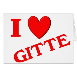 Eu amo Gitte Cartoes