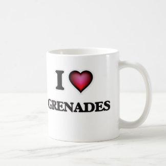 Eu amo granadas caneca de café