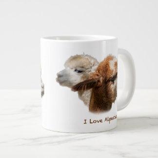 Eu amo grandes canecas das alpacas