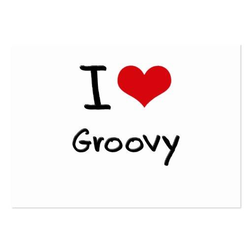 Eu amo Groovy Cartoes De Visitas