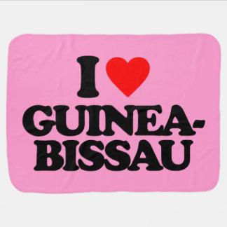 EU AMO GUINÉ-BISSAU COBERTORES DE BEBE