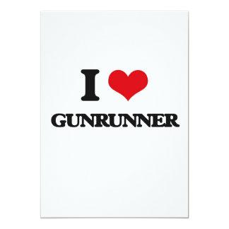 Eu amo Gunrunner Convites Personalizados