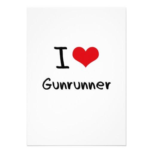 Eu amo Gunrunner Convites