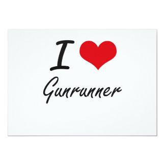 Eu amo Gunrunner Convite 12.7 X 17.78cm