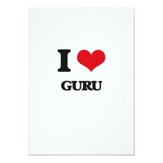 Eu amo Guru Convite 12.7 X 17.78cm