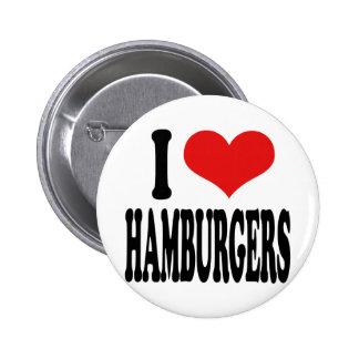 Eu amo Hamburger Bóton Redondo 5.08cm
