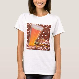 Eu amo hamburgueres e cerveja Brewskies Camiseta
