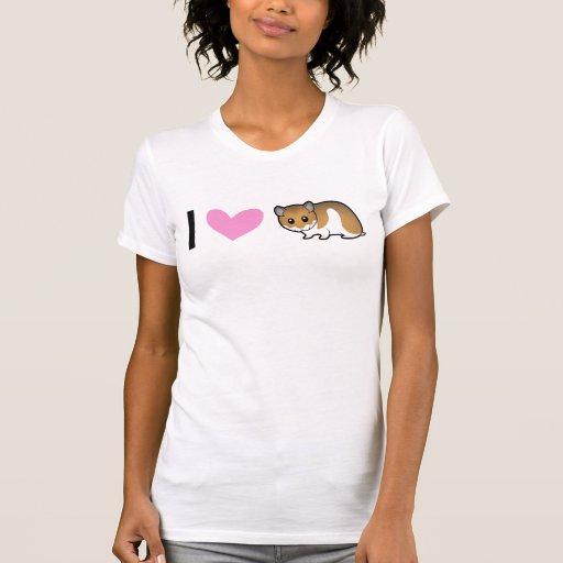 Eu amo hamster (o sírio) camisetas