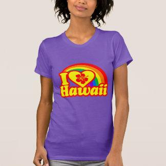 Eu amo Havaí (a versão vermelha) Camisetas