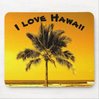 Eu amo Havaí Mouse Pad