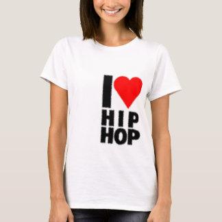 Eu amo Hip Hop - coração no coração Camiseta