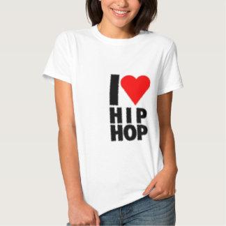 Eu amo Hip Hop - coração no coração T-shirt