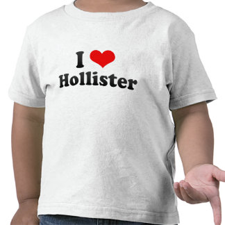 Eu amo Hollister os Estados Unidos Camiseta
