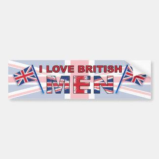 Eu amo homens britânicos adesivo para carro