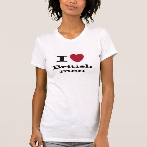 Eu amo homens britânicos tshirts