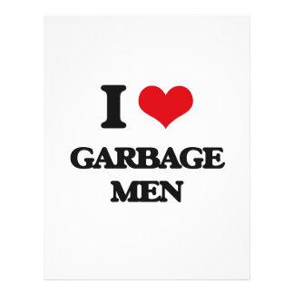 Eu amo homens de lixo panfletos