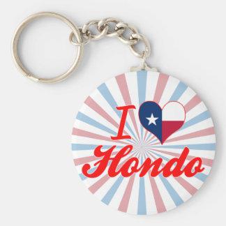Eu amo Hondo Texas Chaveiro
