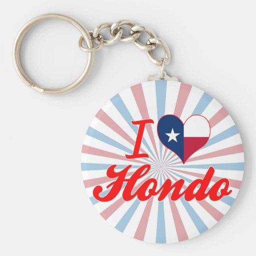 Eu amo Hondo, Texas Chaveiro