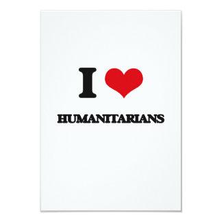 Eu amo humanitários convite 8.89 x 12.7cm