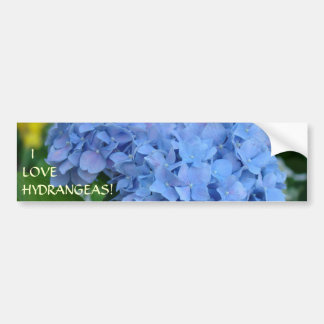 EU AMO HYDRANGEAS! Jardineiro floral do autocolant Adesivo Para Carro