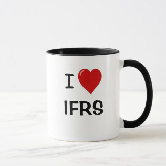 Eu amo IFRS - coração IFRS de I Caneca