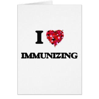 Eu amo imunizar cartão comemorativo