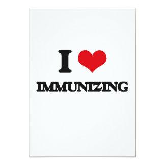 Eu amo imunizar convite 12.7 x 17.78cm