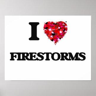 Eu amo incêndios poster
