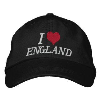 Eu amo Inglaterra Boné Bordado