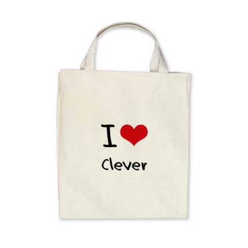 Eu amo inteligente bolsas de lona