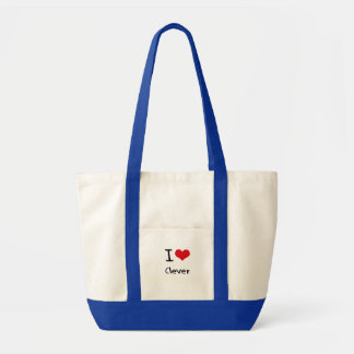 Eu amo inteligente bolsa de lona