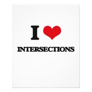 Eu amo intersecções panfletos personalizados