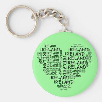 Eu amo Ireland com todo o meu coração (as palavras Chaveiro