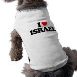 EU AMO ISRAEL CAMISA SEM MANGAS PARA CACHORRO