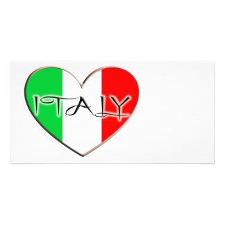EU AMO ITALIA CARTÃO COM FOTO