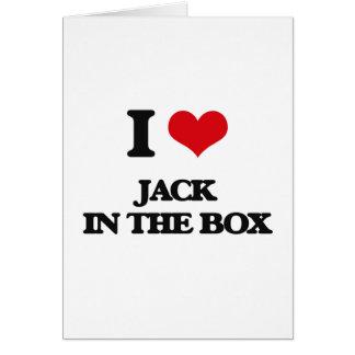 Eu amo Jack in the Box Cartão Comemorativo