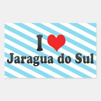Eu amo Jaragua faço Sul, Brasil Adesivos Em Formato Retangulares
