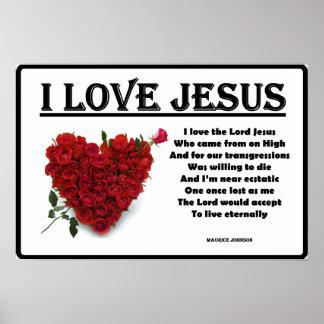 "Eu amo Jesus - 12"" x 18"" poster"