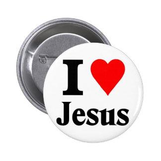 Eu amo Jesus Bóton Redondo 5.08cm