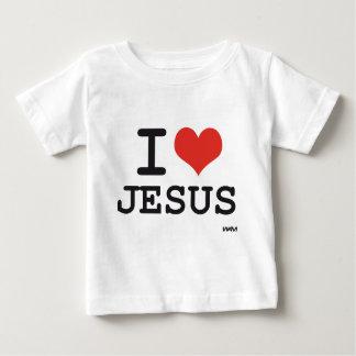 Eu amo Jesus Camiseta Para Bebê