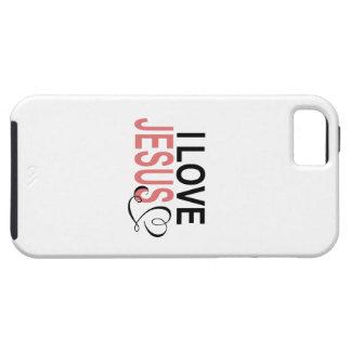 Eu amo Jesus Capa Tough Para iPhone 5